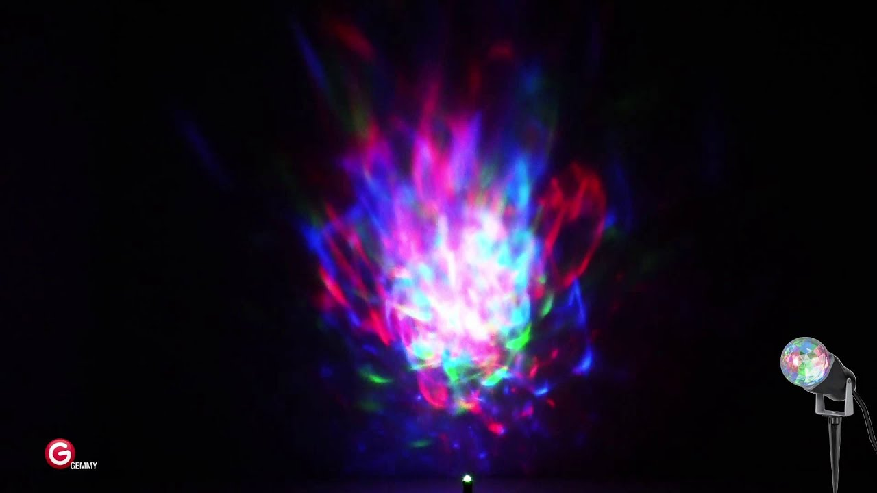 Lightshow Projection Turning Swirling Light