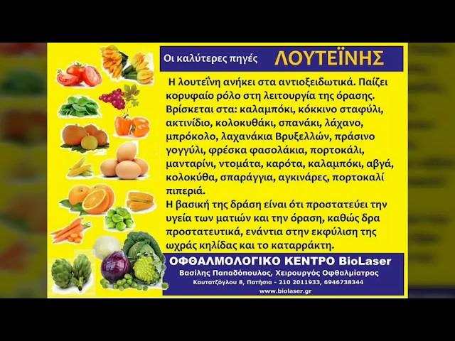 Οι απαραίτητες τροφές για την υγεία των ματιών μας