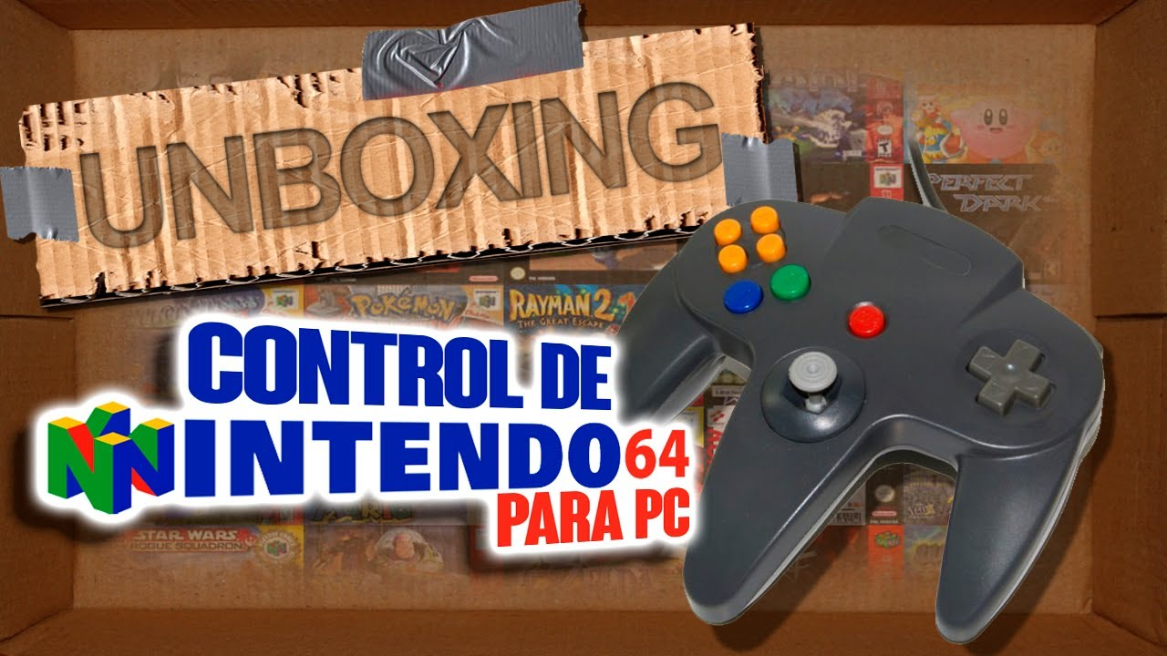 hight resolution of unboxing control nintendo 64 usb i juegos old school i