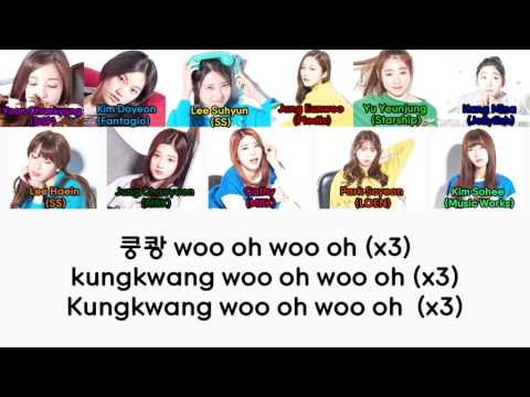 Produce 101 ~ Crush (Live Version) - Top 22 (Han/Rom/Eng) Color Coded Lyrics