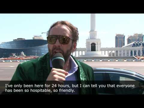 Nicolas Cage have visited Astana, Kazakhstan. Nicolas Cage share his impressions about Astana visit.