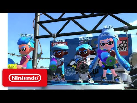 2017 Splatoon 2 Inkling Invitational - Semifinal 2: Australia vs USA - Nintendo E3 2017