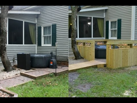 DIY Outdoor Spa Hot Tub Jacuzzi Paver Patio Project {Back Yard DIY Paver Patio Restoration}