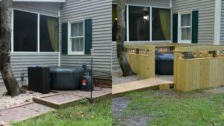 DIY Outdoor Spa Hot Tub Jacuzzi Paver Patio Project {Back Yard DIY Paver Patio Restoration}