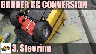 Bruder MB Sprinter RC conversion Part 3 - steering