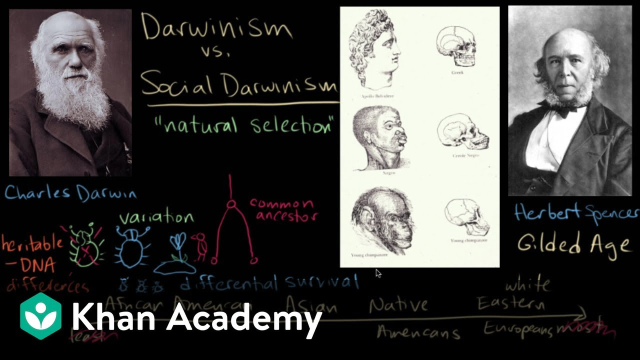 darwinism vs social darwinism part us history khan academy social darwinism part 1 us history khan academy