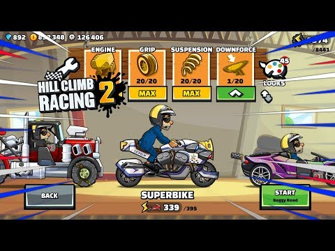 POLICE SUPERBIKE - Hill Climb Racing 2 New Legendary Paints GamePlay