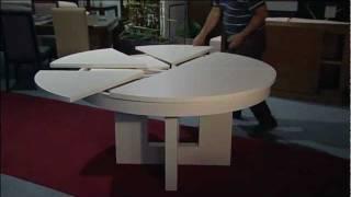 Mesa redonda extensible. Muebles Artenogal Sonseca (Toledo)