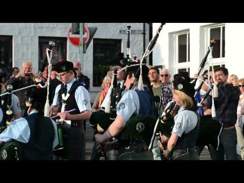 Bag Pipe Band in Portree, Scotland