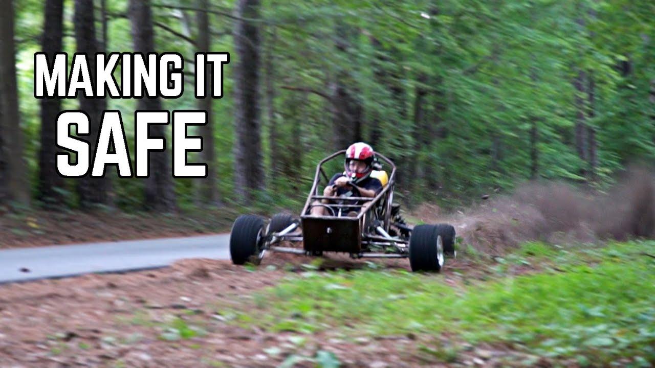 Cross Kart SAFETY UPGRADES | 5pt Harness, Axles, Wheel Balance on