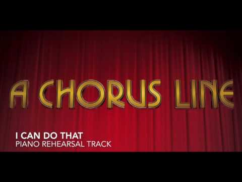 I Can Do That  A Chorus Line  Piano AccompanimentRehearsal Track