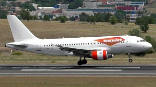 """easyJet A319 """"Hybrid Livery"""" Landing at Madrid Barajas Airport"""