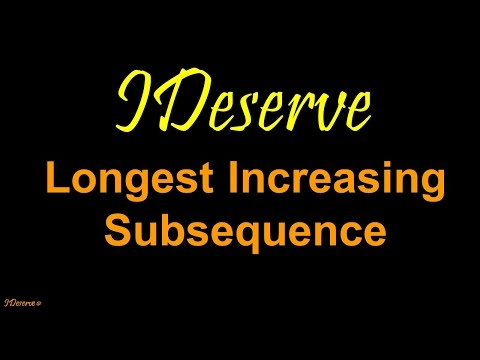 Programming Interview Question: Longest Increasing Subsequence  nlogn