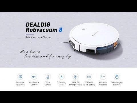 DEALDIG Robvacuum 8 Smart Robotic Vacuum Cleaner Navi APP Control Saugroboter
