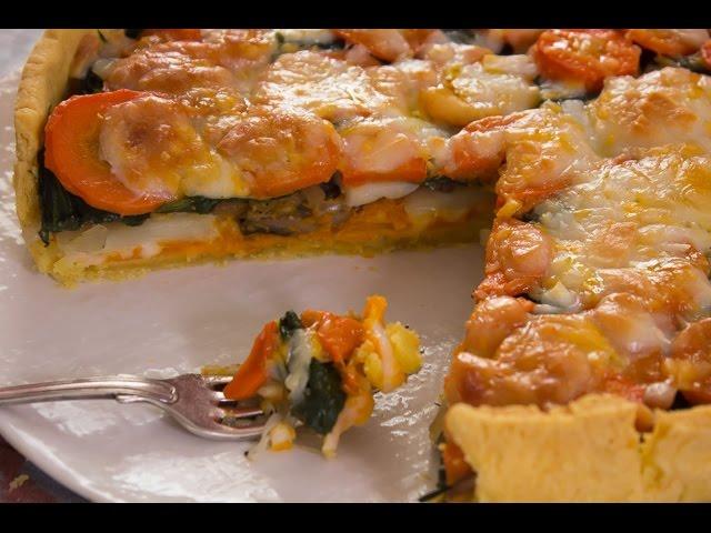 في الفرن - تارت بالخضار والمشروم + خبز بالطماطم الشيرى والزيتون - الجزء الأول