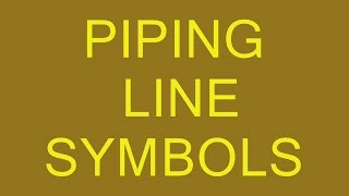 Piping-Main Line,Electrical Line,Hydraulic Symbols