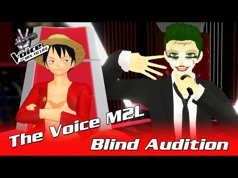 ✪ The Joker - Shape Of You ✪ Bind Auditions ► The Voice M2l