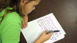 The kids write a letter to Santa