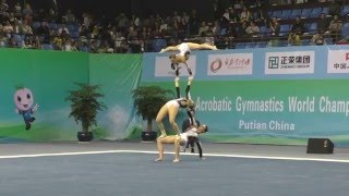 Bentley - Silverman - Stickley - Balance - 2016 World Acrobatic Championships - Qualifying