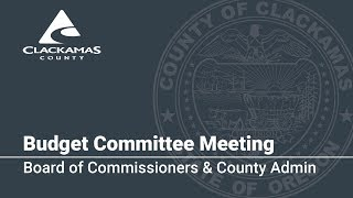 Board of Commissioners & County Admin Budget Presentation 2018