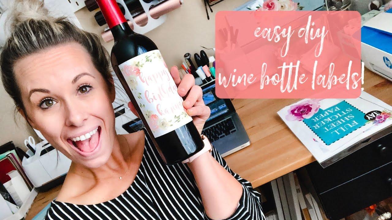 DIY Wine Bottle Decals Wine Bottle Decal Stickers Sticker