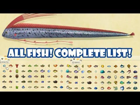 ALL Fish In Animal Crossing New Horizons | Complete List / Critterpedia | KawaiiBeth