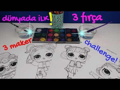 Lol Sürpriz Bebek şansına Ne çıkarsa Sulu Boya 3 Color Challenge W