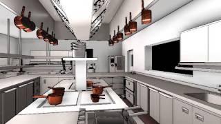 Commercial Kitchen Design - 3d Animation