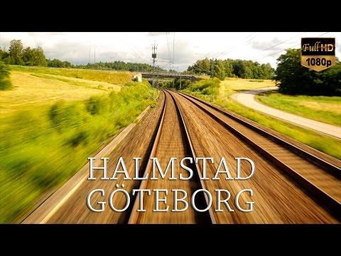 Train Drivers View: Halmstad to Göteborg