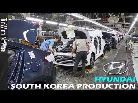 Hyundai Production in South Korea (Accent, Elantra, Ioniq, Santa Fe, Tucson, Veloster)