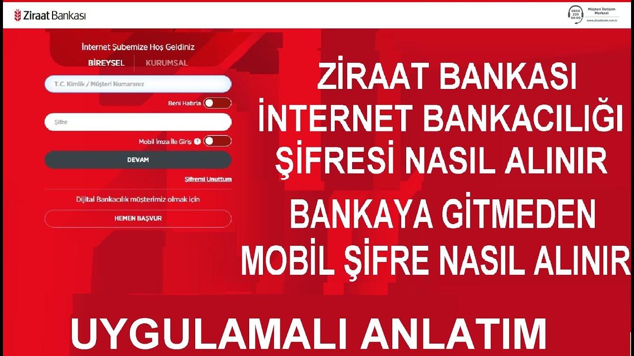 Ziraat Bankası Kart Şifresi Alma (MOBİLDEN ANINDA ŞİFRE AL)