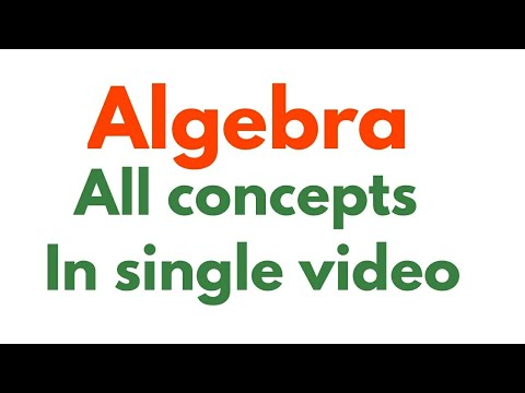 Algebra All  Concepts in single video by Ashish sir( score 193.5 /200 cgl mains maths) for SSC CGL
