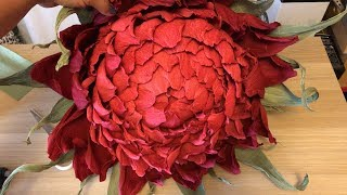 Ростовые цветы, как сделать бутон махровой астры.