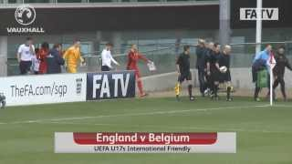 England U17s vs Belgium 2-1, friendly at St. George's Park