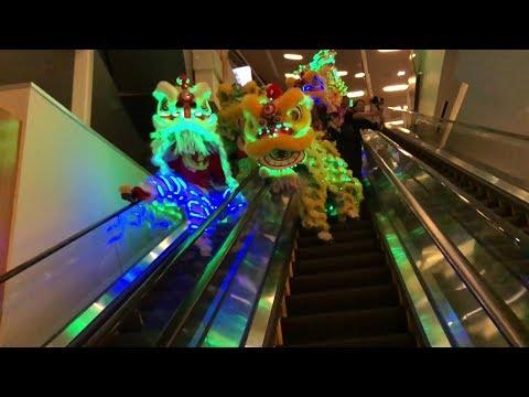 cny 2018 :: ykm lions & dragon parading aria las vegas casino