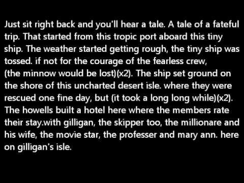 Lyrics to gilligan's island harlem globetrotters version.wmv