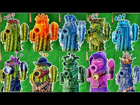 Plants vs Zombies Garden Warfare 2:All Cactus Pvzgw2 : Gameplay 2016