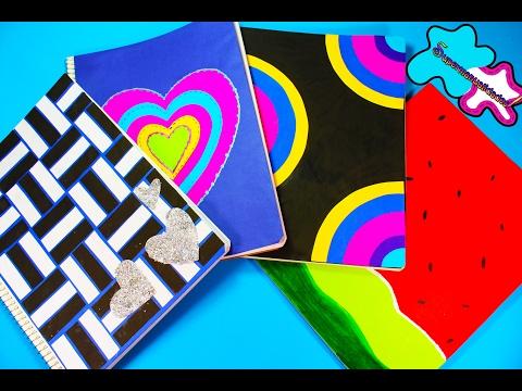 Decora Tus Cuadernos Con Hojas De Colores 4 Ideas Fáciles