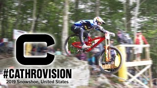 How To Drop Like A WC Racer // Snowshoe DH WC Race Day // #Cathrovision 2019