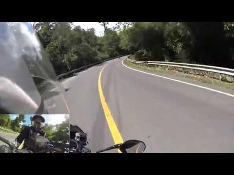 Triumph Speed Triple hill climb ride at Doi Inthanon (ดอยอินทนนท์) Thailand