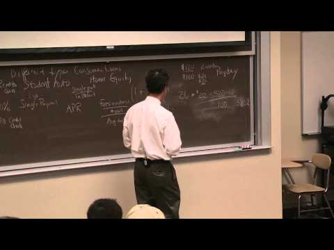 Lesson 9: Consumer & Mortgage Loans (2013)