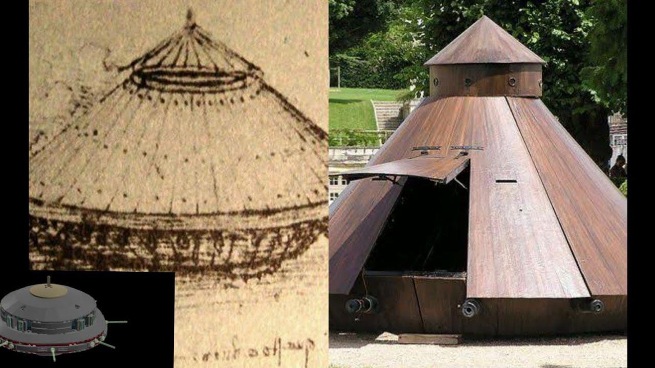 Leonardo da Vinci inventou um tanque de guerra semelhante a um nave clássica extraterrestre? Video 1