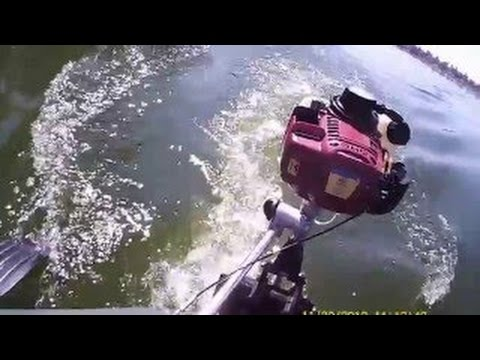 Мотор ШМЕЛЬ 1 6 4 х тактный и лодка KOLIBRI 260 - YouTube