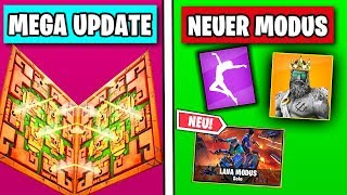 NEW LAVA UPDATE 🔴 New Mode, Skins, Dances, Emotes | Fortnite Season 8 | German