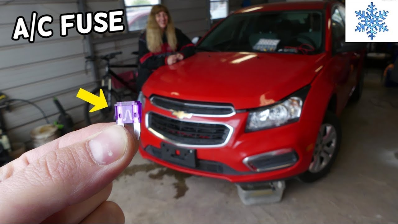 CHEVROLET CRUZE AC CLUTCH FUSE LOCATION REPLACEMENT AC AIR CONDITIONER NOT  WORKING