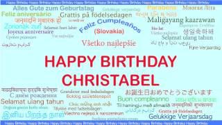 Christabel   Languages Idiomas - Happy Birthday