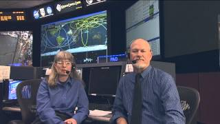 EVA Systems Flight Controller Talks With Students