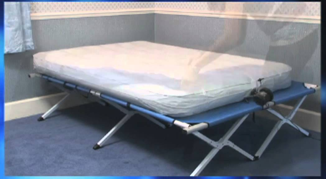 Honeyman Full Sized Portable Folding Double Bed In A Bag