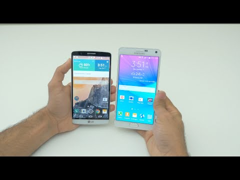 Samsung Galaxy Note 4 vs LG G3: Comparison (4K)