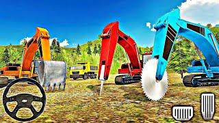 Kepçe Ekskavatör Simülatör Oyunu - Heavy Excavator Rock MiningStone Cutter Simulator